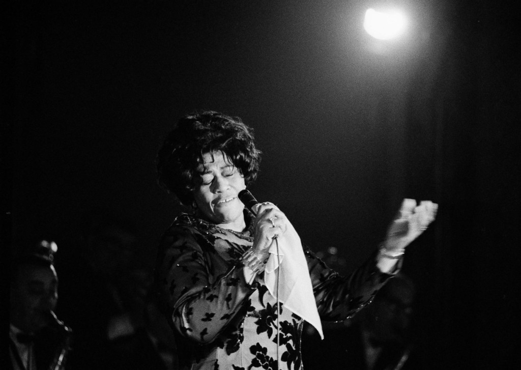 Famed jazz singer Ella Fitzgerald performs at the Empire Room at the Waldorf Astoria Hotel in 1971.