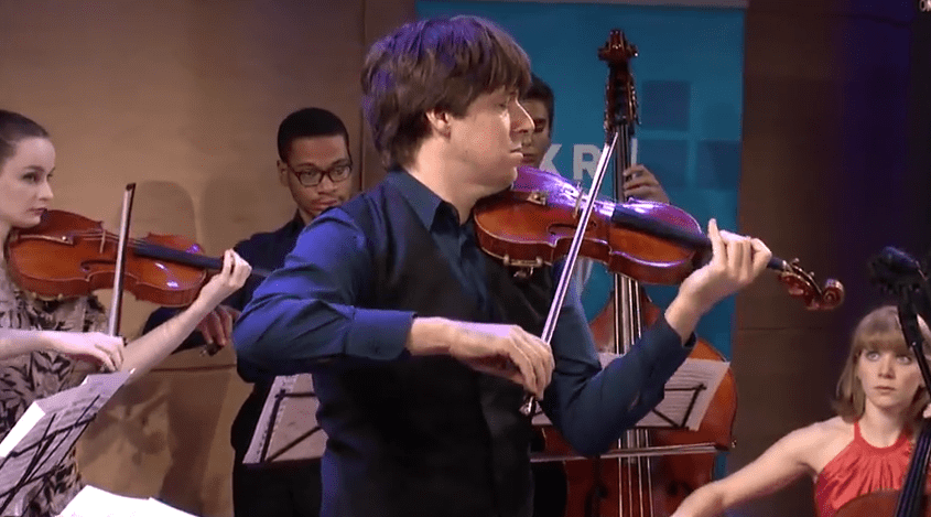 Joshua Bell performs with young musicians from the YoungArts Foundation live in The Greene Space
