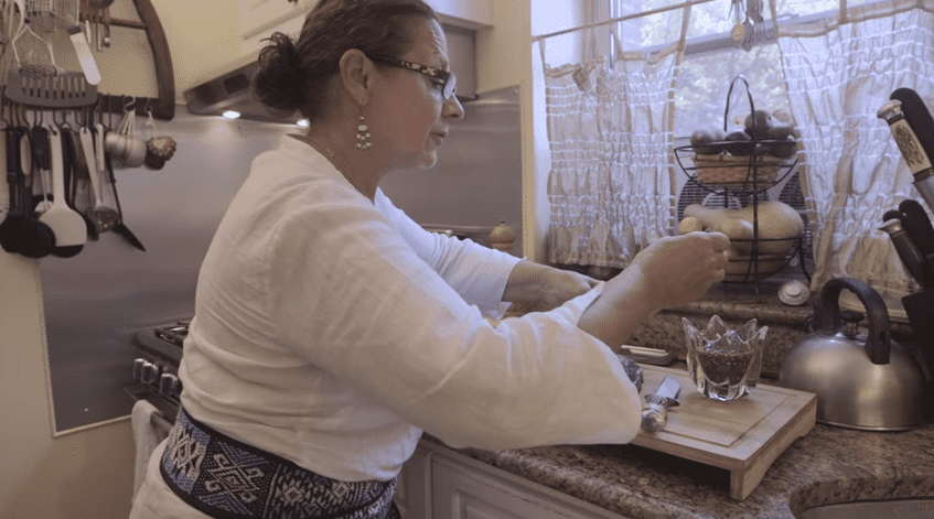 Mirta Rinaldi, an instructor with New York City-based League of Kitchens, makes Argentinian short ribs in her Queens kitchen