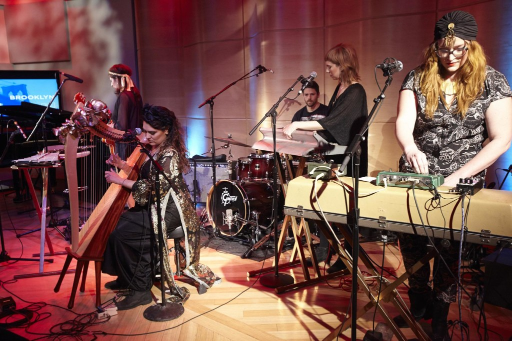Teletextile perform at the Brooklyn Battle of the Boroughs in The Greene Space