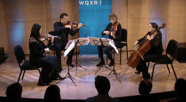 The Varian Fry Quartet performs live in The Greene Space