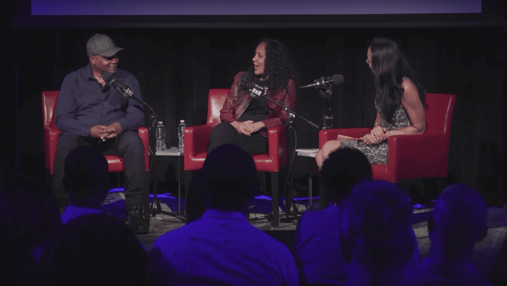 'Shots Fired' creators Reggie Rock Bythewood and Gina Prince-Bythewood in conversation with Susan Fales-Hill in The Greene Space