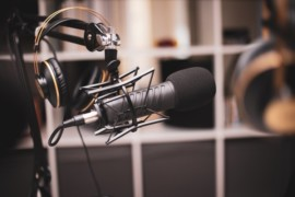 Studio microphone photo