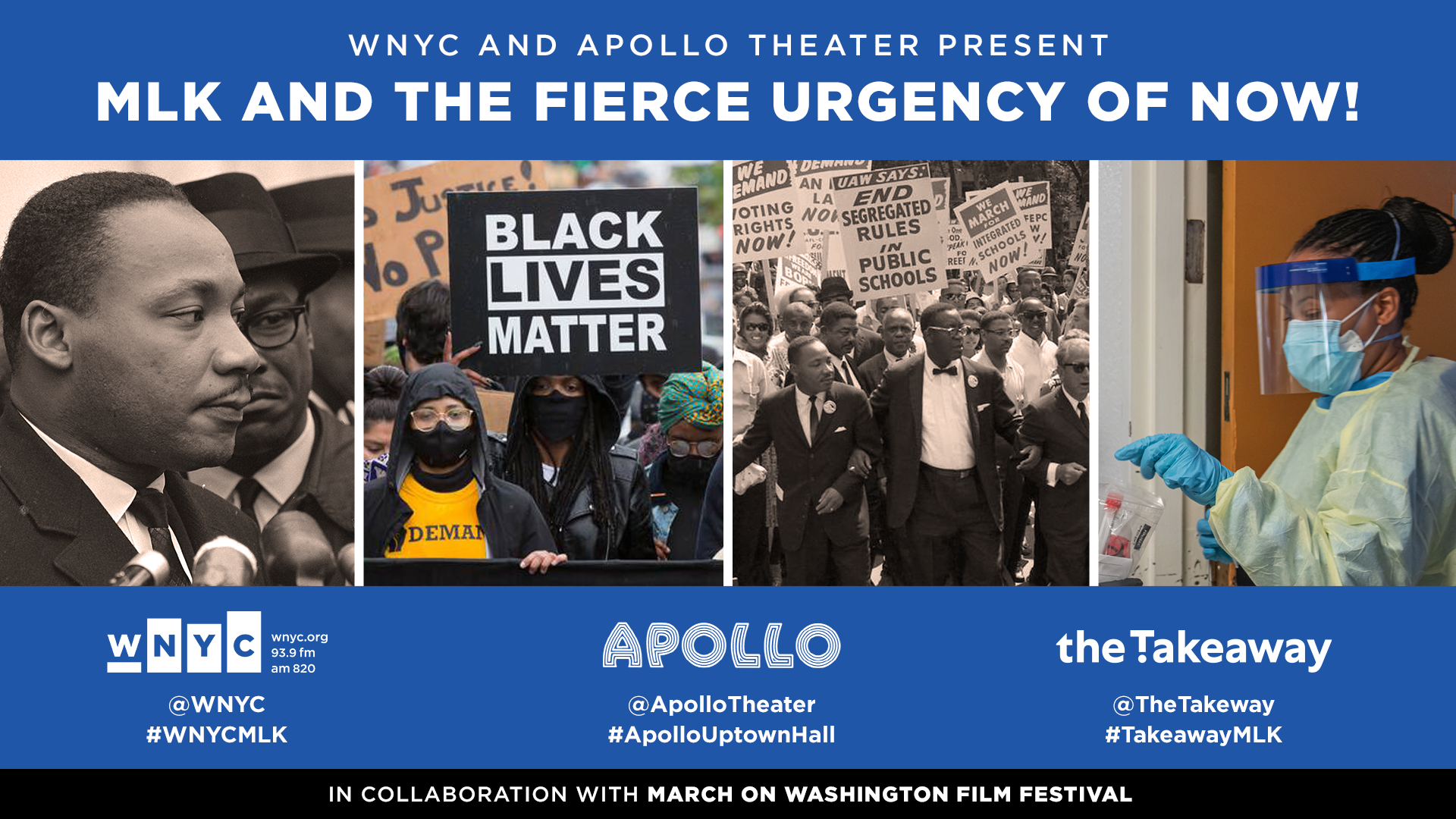WNYC and Apollo Theater Present: MLK and the Fierce Urgency of Now!